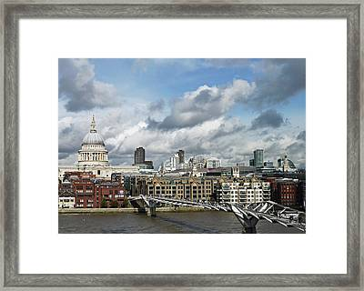 The London Skyline Towards St Paul's Cathedral Framed Print by Eyespy