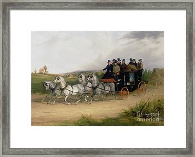 The London To Brighton Stage Coach Framed Print by William Joseph Shayer