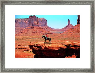 The Lone Indian Framed Print