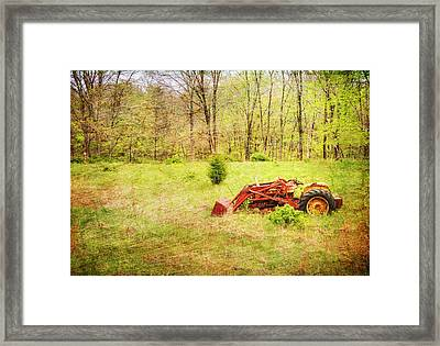 The Lone Tractor Framed Print