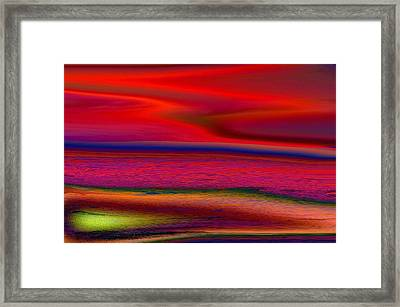 The Lonely Beach Framed Print