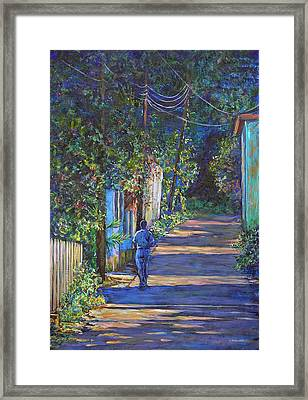 The Lonely Road Framed Print by Li Newton