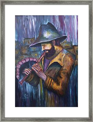 The Lonely Shepherd Framed Print by Itzhak Richter