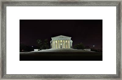 The Lonely Tourist At Jefferson Memorial Framed Print by Metro DC Photography