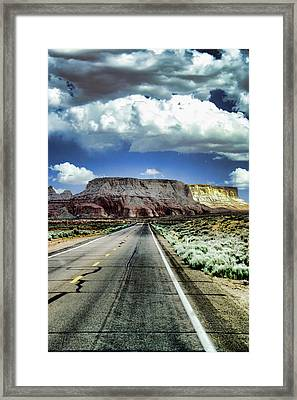 The Long And Lonely Road Framed Print by Ellen Heaverlo