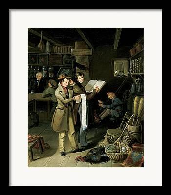 Political Allegory Framed Prints