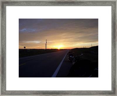 The Long Ride Framed Print