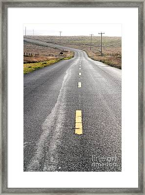 The Long Road Home . 7d9898 Framed Print by Wingsdomain Art and Photography