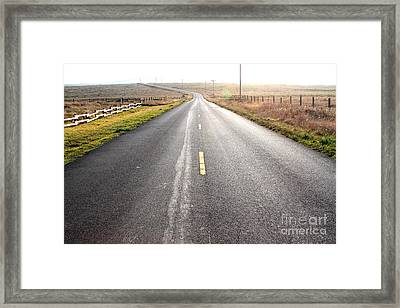 The Long Road Home . 7d9903 Framed Print