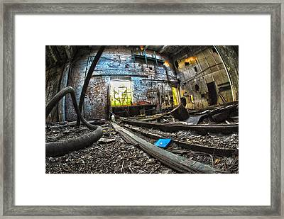 Framed Print featuring the digital art The Long Room by Kimberleigh Ladd