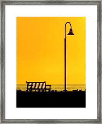 The Long Wait Framed Print by Karen Wiles