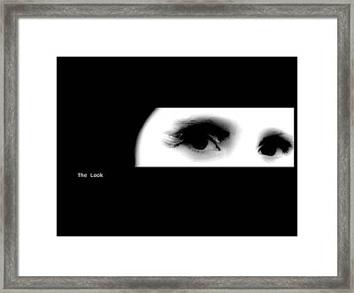 The Look Framed Print by Xoanxo Cespon