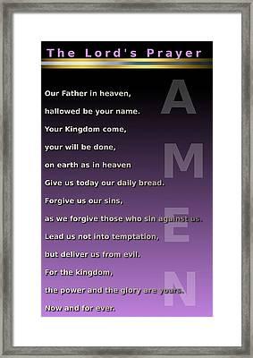 The Lord's Prayer Framed Print by Ricky Jarnagin