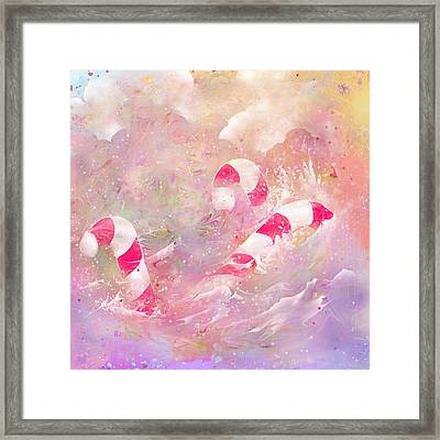 The Lost Candy Canes Framed Print by Rachel Christine Nowicki