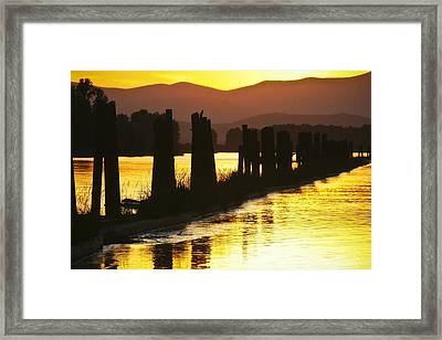 Framed Print featuring the photograph The Lost River Of Gold by Albert Seger