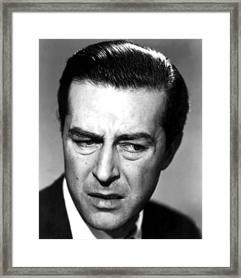 The Lost Weekend, Ray Milland, 1945 Framed Print