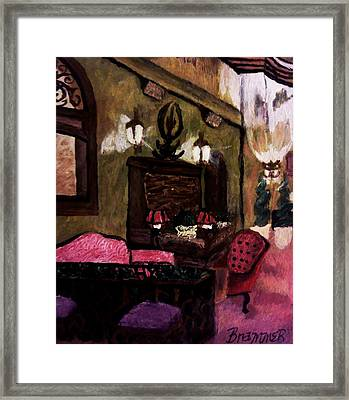 Framed Print featuring the painting The Lounge by Christy Saunders Church