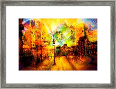 The Louvre Framed Print by Carrie OBrien Sibley