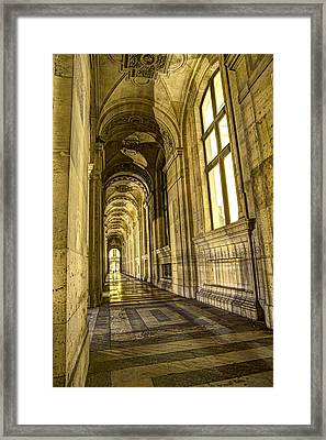 The Louvre Hall Of Shadows Framed Print