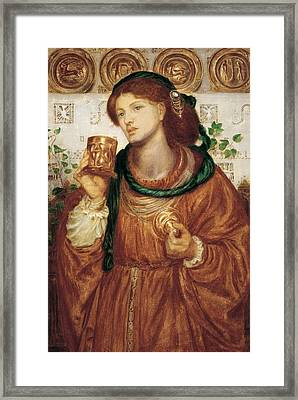 The Loving Cup Framed Print by Dante Charles Gabriel Rossetti