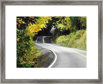 Framed Print featuring the photograph The Low Road by Sadie Reneau