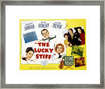 The Lucky Stiff, Brian Donlevy, Dorothy Framed Print by Everett