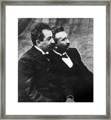 The Lumiere Brothers, Louis Jean Framed Print by Everett