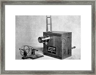 The Lumiere Cinematographe, Invented Framed Print