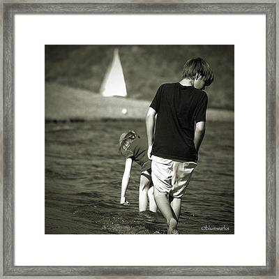 The Lure Of Water Framed Print