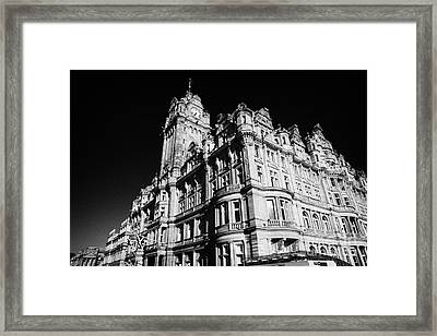 The Luxury Balmoral Hotel Edinburgh Scotland Uk United Kingdom Framed Print by Joe Fox
