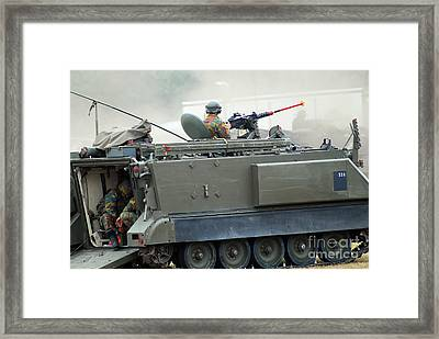 The M113 Tracked Infantry Vehicle Framed Print by Luc De Jaeger