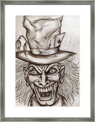 The Mad Hatter Framed Print by Michael Mestas