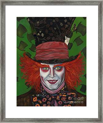 The Mad Hatter Framed Print by Viveca Mays