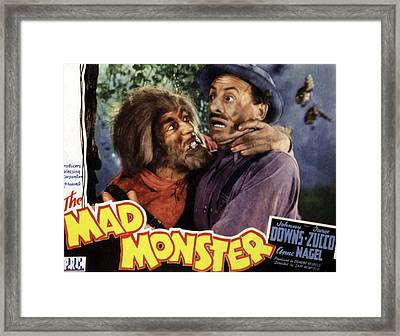The Mad Monster, Glenn Strange Left Framed Print by Everett
