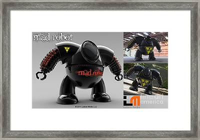 The Mad Robot Framed Print
