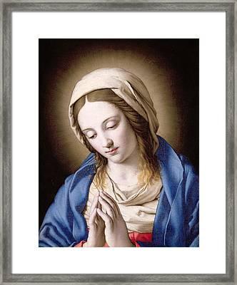 The Madonna Praying Framed Print
