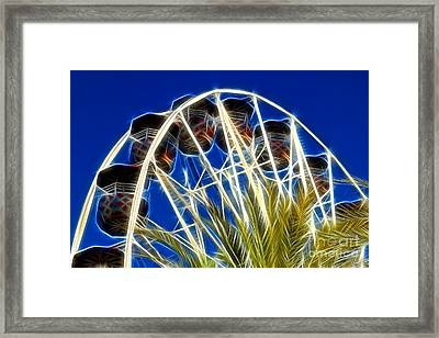 The Magic Ferris Wheel Ride Framed Print by Mariola Bitner