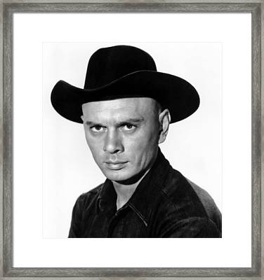 The Magnificent Seven, Yul Brynner, 1960 Framed Print