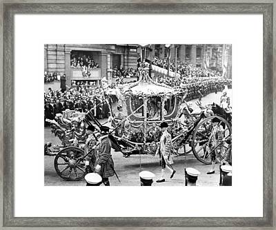 The Magnificent State Coach, King Framed Print by Everett