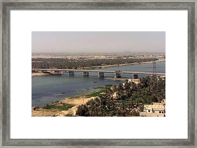 The Main Bridge In An Nasiriyah Iraq Framed Print by Everett