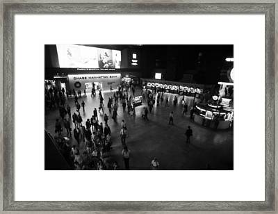The Main Hall Of Grand Central Station Framed Print by Everett