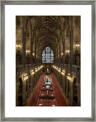 The Main Library Hall Framed Print by Dave Wood