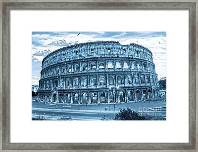 Framed Print featuring the photograph The Majestic Coliseum by Luciano Mortula