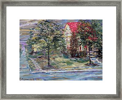 Framed Print featuring the painting The Majestic Outing Club Lawn by Denny Morreale