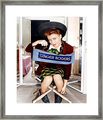 The Major And The Minor, Ginger Rogers Framed Print by Everett
