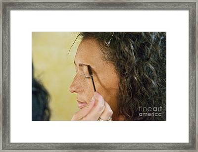 The Makeup Artist Framed Print by Sean Griffin