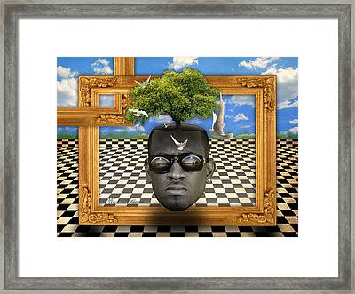 The Man And The Tree  Framed Print