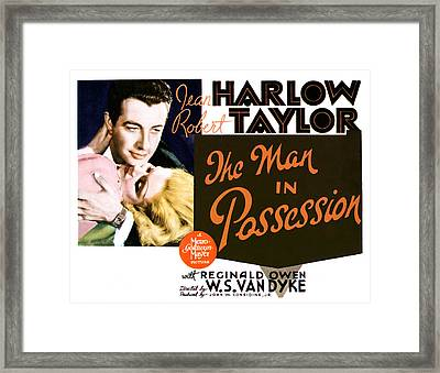 The Man In Possession, Jean Harlow Framed Print by Everett