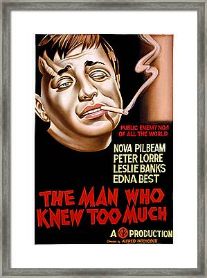 The Man Who Knew Too Much, Peter Lorre Framed Print by Everett