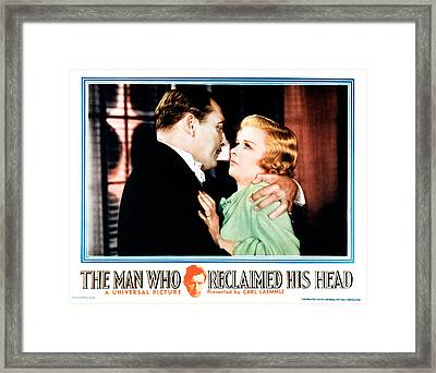 The Man Who Reclaimed His Head Framed Print by Everett